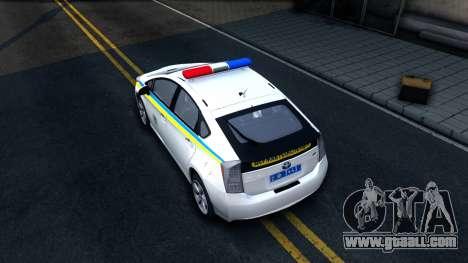Toyota Prius Ukraine Police for GTA San Andreas back view