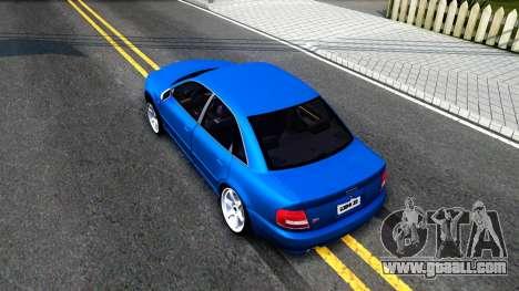 Audi S4 Dark Shark for GTA San Andreas back view