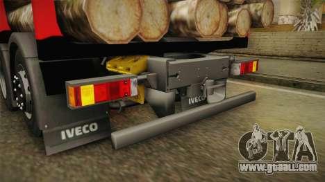 Iveco Stralis Hi-Way 560 E6 6x2 Timber v3.0 for GTA San Andreas interior