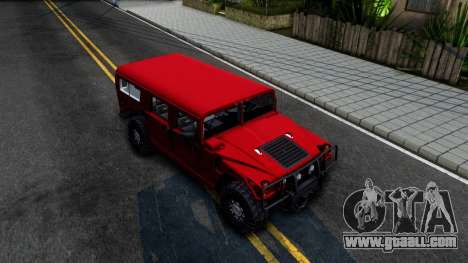 Hummer H1 Alpha for GTA San Andreas right view