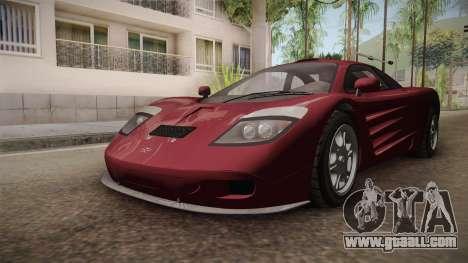 GTA 5 Progen GP1 for GTA San Andreas back view