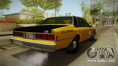 Chevrolet Caprice Taxi 1986 for GTA San Andreas right view