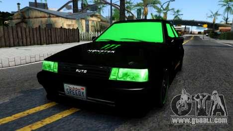 GTA 5 Karin Futo - Monster Energy for GTA San Andreas
