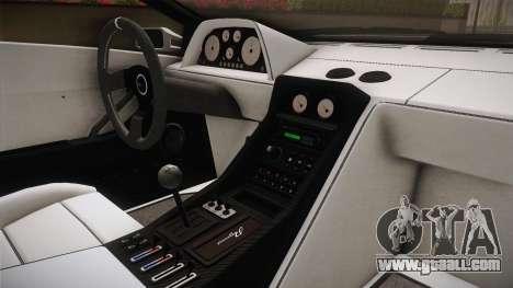 GTA 5 Pegassi Infernus Classic for GTA San Andreas inner view