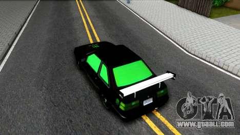 GTA 5 Karin Futo - Monster Energy for GTA San Andreas back view