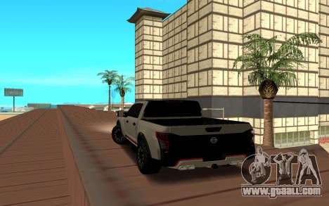 Nissan Titan for GTA San Andreas back left view