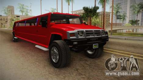 GTA 5 Mammoth Patriot Limo for GTA San Andreas