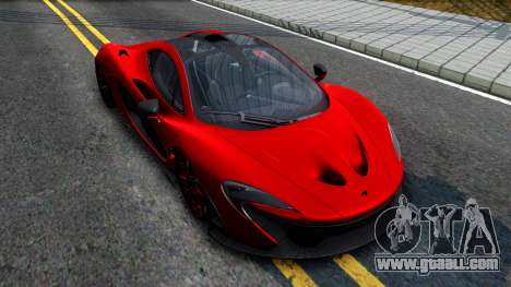 McLaren P1 2015 for GTA San Andreas right view