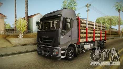 Iveco Stralis Hi-Way 560 E6 6x2 Timber v3.0 for GTA San Andreas right view