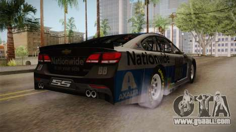Chevrolet SS Nascar 88 Nationwide 2017 for GTA San Andreas back left view