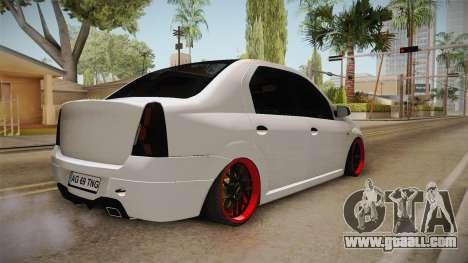 Dacia Logan Tuning v2 for GTA San Andreas back left view