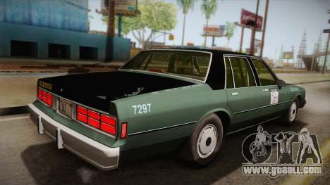 Chevrolet Caprice Taxi 1989 for GTA San Andreas left view