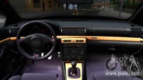 Audi S4 Dark Shark for GTA San Andreas inner view