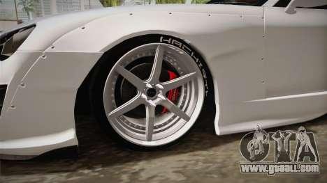 Toyota Supra 8PraLift Hachi NieR Automata 2B for GTA San Andreas back view