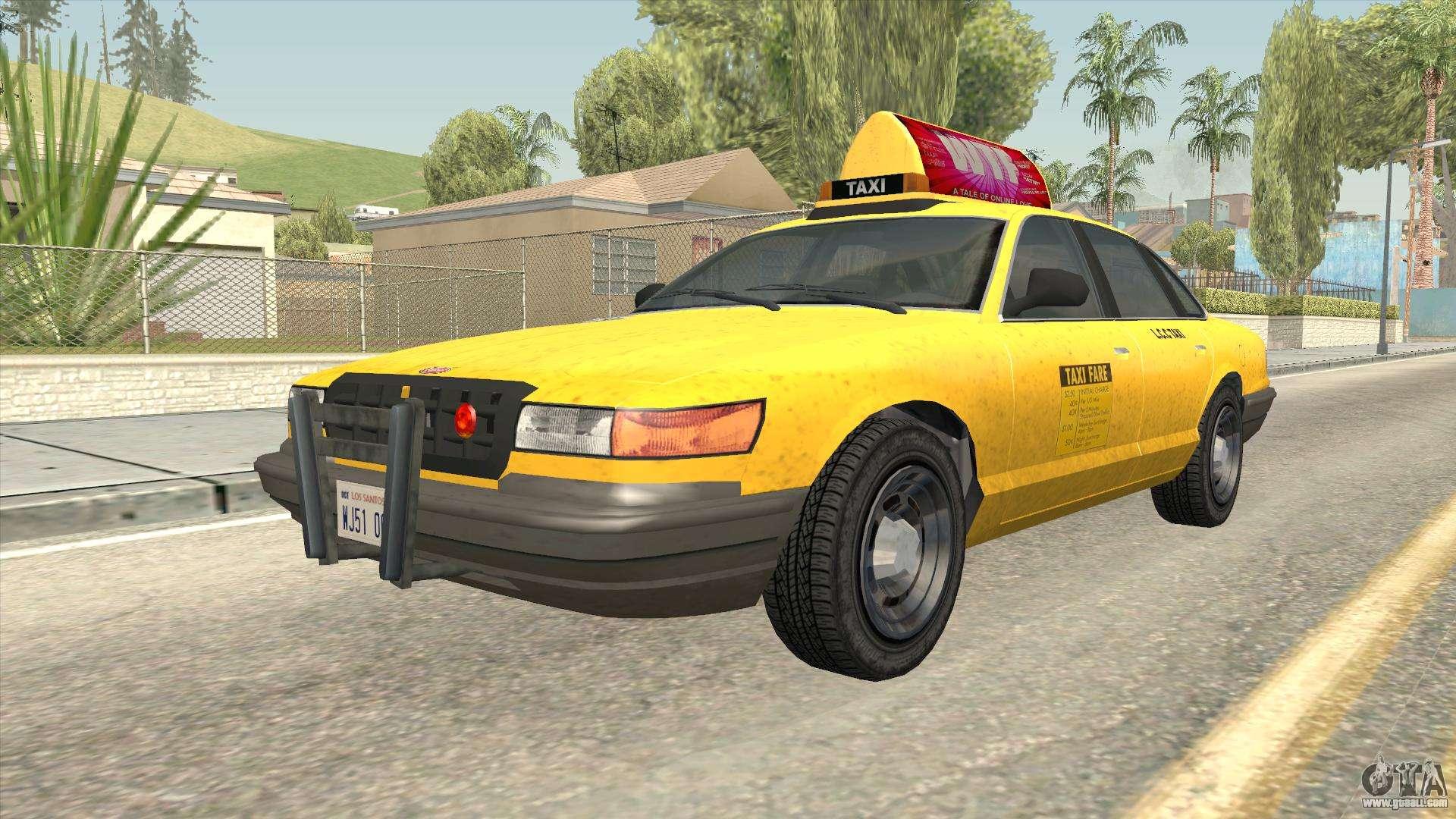 GTA 4 Taxi Car for GTA San Andreas