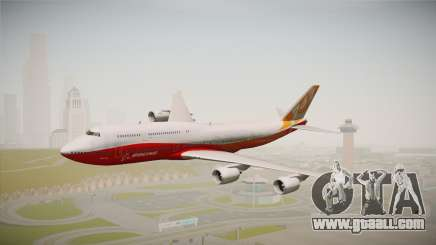 Boeing 747-8I Sunrise Livery for GTA San Andreas