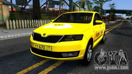 "Skoda Rapid ""Yandex Taxi"" for GTA San Andreas"
