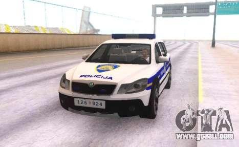 Skoda Octavia Scout Croatian Police Car for GTA San Andreas side view