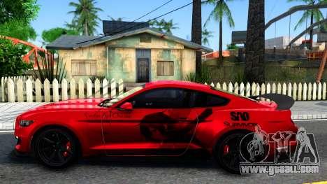 Ford Mustang Shelby GT350R 2016 Kirito Itasha for GTA San Andreas left view