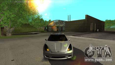 Toyota Celica Tunable for GTA San Andreas inner view