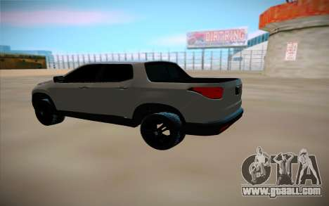 Fiat Toro for GTA San Andreas back left view