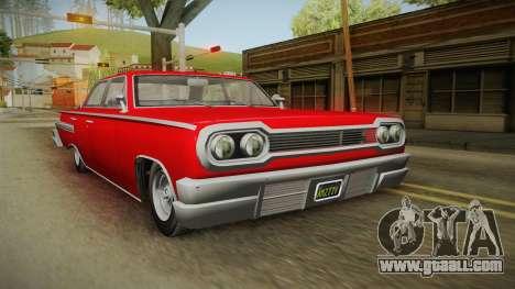 GTA 5 Declasse Voodoo 4-door for GTA San Andreas