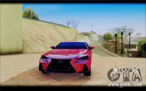 Lexus IS F 2017 for GTA San Andreas right view