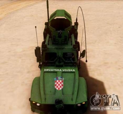 Oshkosh M-ATV Croatian Armoured Vehicle Texture for GTA San Andreas inner view