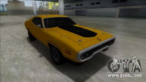 1972 Plymouth GTX for GTA San Andreas back view