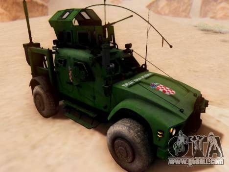 Oshkosh M-ATV Croatian Armoured Vehicle Texture for GTA San Andreas back left view