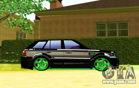 Land Rover Range Rover Sports Light Tuning for GTA San Andreas back left view