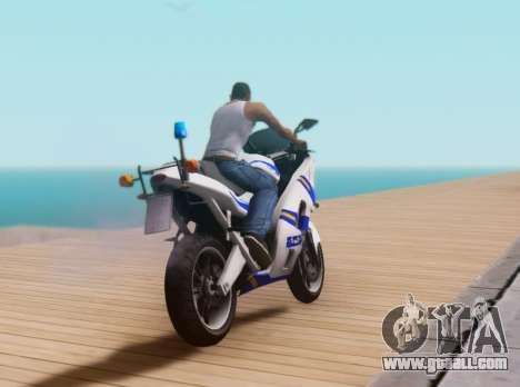 Croatian Police Bike for GTA San Andreas inner view