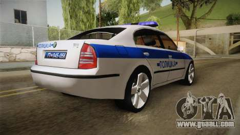 Skoda Superb Serbian Police v1 for GTA San Andreas left view