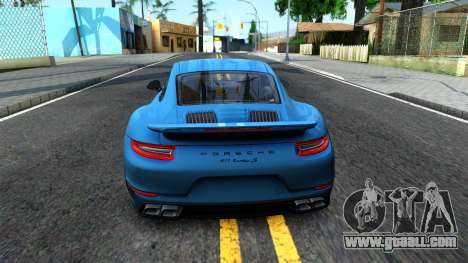 Porsche 911 Turbo S for GTA San Andreas back left view