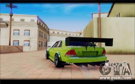Toyota Altezza RS 200 TRD for GTA San Andreas back view