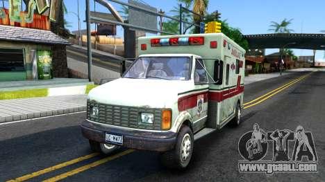 Resident Evil Ambulance for GTA San Andreas
