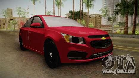 Chevrolet Cruze LS Beta for GTA San Andreas right view