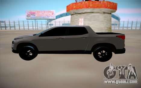 Fiat Toro for GTA San Andreas left view