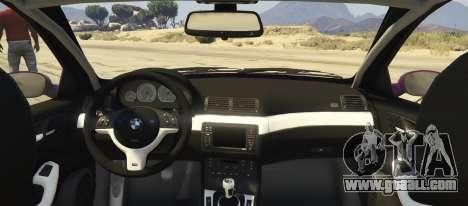GTA 5 BMW M3 E46 Pandem Rocket Bunny rear left side view