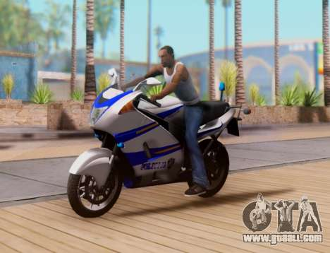 Croatian Police Bike for GTA San Andreas upper view
