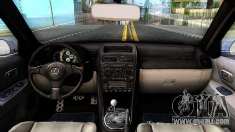 Lexus IS300 Rocket Bunny for GTA San Andreas inner view