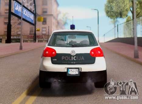 Golf V BIH Police Car V2 (Single Siren) for GTA San Andreas right view