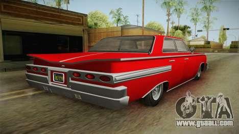 GTA 5 Declasse Voodoo 4-door for GTA San Andreas left view