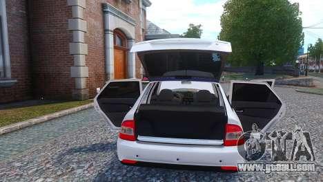 Lada Priora Hatchback for GTA 4 inner view
