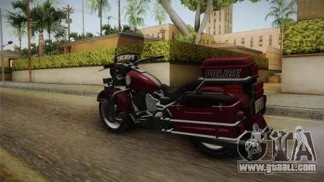 GTA 5 Police Bike for GTA San Andreas back left view