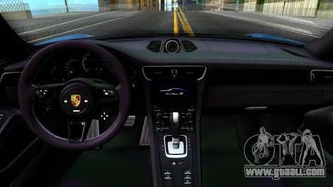 Porsche 911 Turbo S for GTA San Andreas inner view