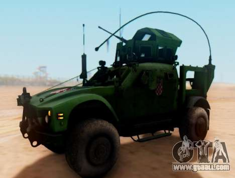 Oshkosh M-ATV Croatian Armoured Vehicle Texture for GTA San Andreas