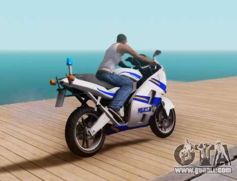 Croatian Police Bike for GTA San Andreas back view
