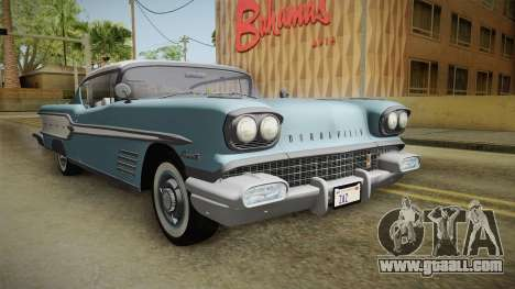 Pontiac Bonneville Hardtop 1958 IVF for GTA San Andreas right view