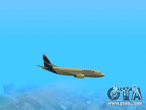 Boeing 737-300 LATAM Airlines for GTA San Andreas right view